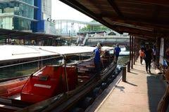 运河船中止 曼谷泰国 库存图片