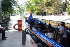 运河船中止 曼谷泰国 图库摄影