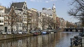 运河船在市阿姆斯特丹 库存图片