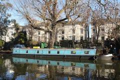 运河船,一点威尼斯 免版税库存照片