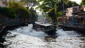 运河船 曼谷泰国 免版税图库摄影