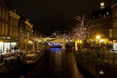 运河荷兰照亮了 免版税库存照片