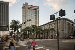 运河街道在新奥尔良 库存图片