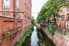 运河街道在曼彻斯特,英国 库存图片