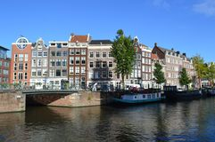 运河视图在荷兰 库存照片