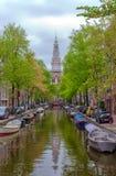 运河视图阿姆斯特丹荷兰欧洲 库存照片