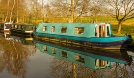 运河议院Narrowboats 免版税库存图片