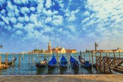 运河重创的威尼斯 免版税库存图片