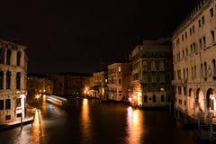 运河重创的晚上 库存图片