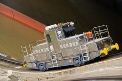 运河锁定miraflores巴拿马 免版税图库摄影