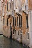 运河门面威尼斯 库存照片
