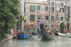 运河,威尼斯,意大利 免版税库存照片