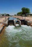 运河系统在亚利桑那 库存图片