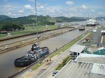 运河巴拿马 库存图片