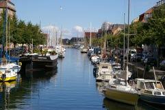 运河christianshavn 免版税图库摄影