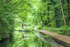 运河Cromford 库存图片