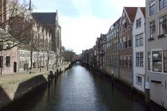 运河dordrecht荷兰 图库摄影
