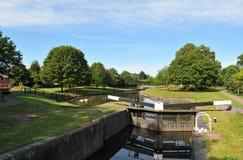 运河droitwich 库存图片