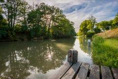 运河du密地 免版税图库摄影