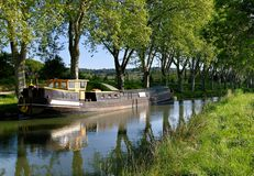 运河du法国南的密地 图库摄影