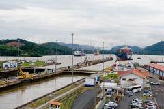 运河gatun湖巴拿马 免版税库存照片