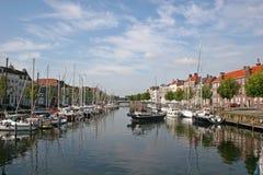 运河middelburg 库存图片