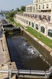 运河Rideau在渥太华加拿大 库存照片