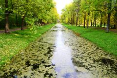 运河selo tsarskoe 图库摄影