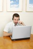 运算符电话 免版税库存照片