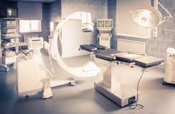 运行与X-射线医疗扫描的医院 免版税图库摄影