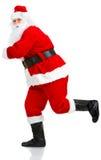 运行圣诞老人的圣诞节 免版税库存照片