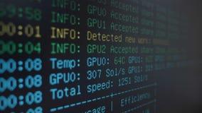 运行在数字计算机开采的cryptocurrency过程概念的隐藏开采的信息系统- 影视素材