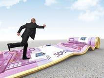 运行在货币地毯 免版税库存照片