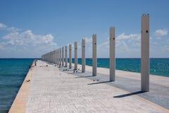 运货马车的车夫del墨西哥码头playa 免版税库存图片