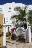 运货马车的车夫del墨西哥playa别墅白色 免版税库存图片