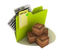 运费图标运输 库存例证