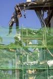 运转在站点爆破的挖掘机机械 库存照片