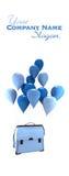 运载书包的气球 免版税库存图片
