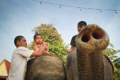 运载儿童大象 图库摄影