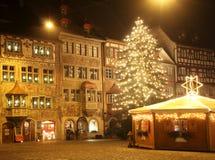 运载圣诞节克劳斯礼品例证晚上圣诞老人向量 图库摄影