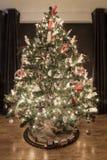 运载圣诞节克劳斯礼品例证晚上圣诞老人向量 库存照片