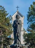 运载小耶稣的圣女玛丽亚 库存图片