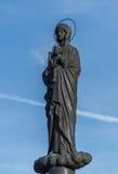 运载小耶稣的圣女玛丽亚 免版税图库摄影