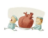 运载心脏的两个人 免版税库存图片