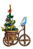 运载新的结构树三轮车年的鹦哥 免版税库存图片