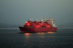 运载气体液化天然气自然船 免版税图库摄影