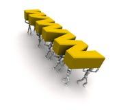 运载的人员合作万维网黄色 向量例证