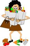 运载的副食品妇女 免版税库存图片