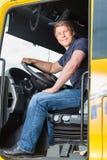 运输业者或卡车司机司机盖帽的 库存图片