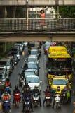 运输交通在市中心 库存照片